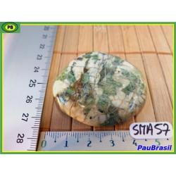 Smaragdite du Cap Corse en galet plat de 43 g
