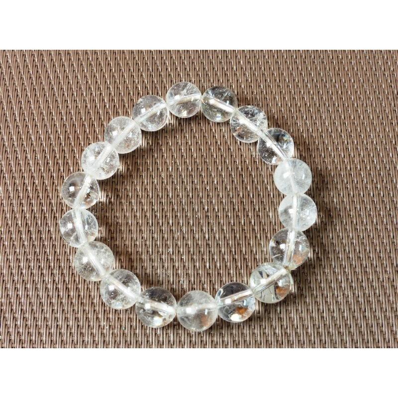 Bracelet en pierres roulées en Cristal de Roche