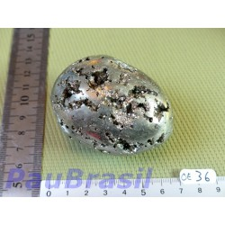 Oeuf en Pyrite 326gr 48mm diam 66mm long