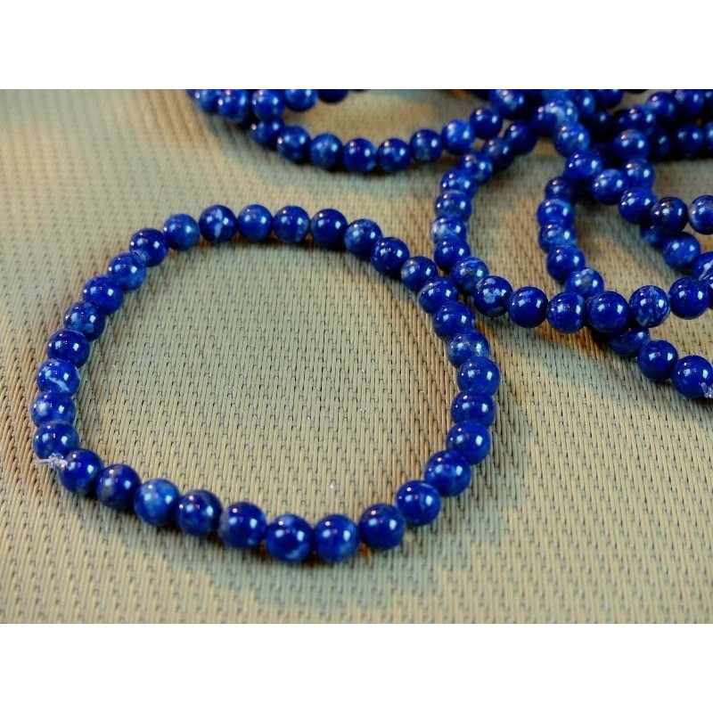 Bracelet Lapis Lazuli en perles de 6mm