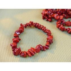 Bracelet baroque en Jaspe Rouge .