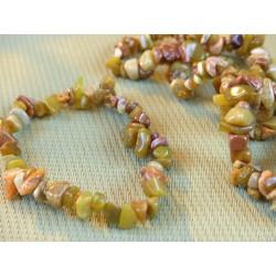 Bracelet baroque en Opale Verte des Andes