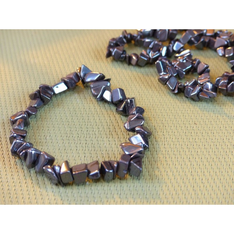 Bracelet baroque en Hématite