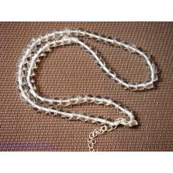 Collier en Cristal de Roche 42 cm Q extra perles de 6mm