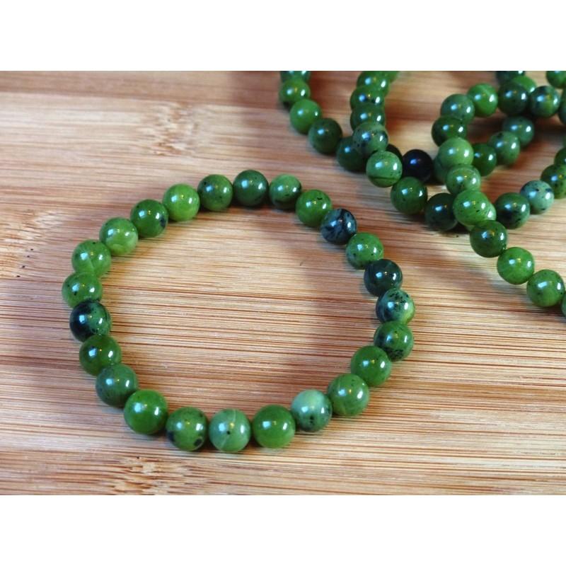 Bracelet en Jade Néphrite en perles de 8mm