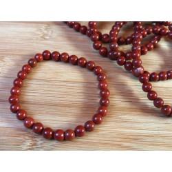 Bracelet Jaspe Rouge en perles de 6mm .