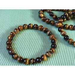 Bracelet OEIL DE TIGRE Q Extra en perles de 8mm