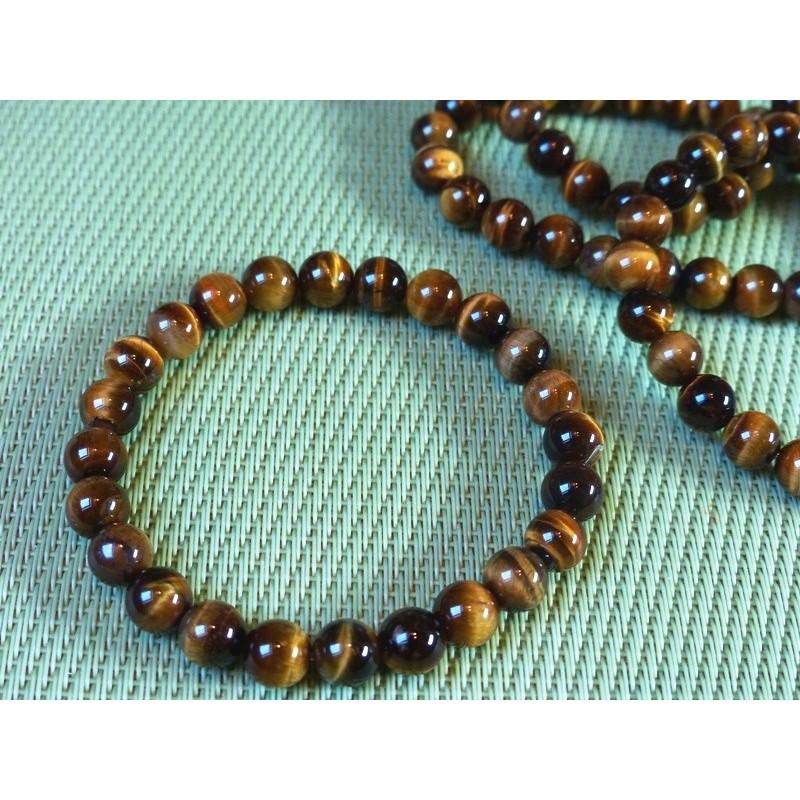 Bracelet Oeil de tigre perles de 8mm