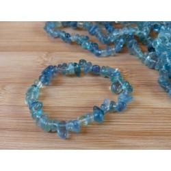 Bracelet baroque en Fluorite ou fluorine bleue