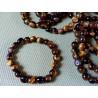 Bracelet Oeil de tigre Q Extra en pierres roulées