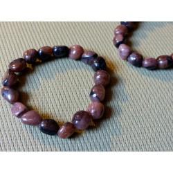 Bracelet Chiastolite, andalousite en pierre roulée