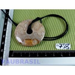 Donut -Pi-Corail fossilisé de 4cm de diamètre