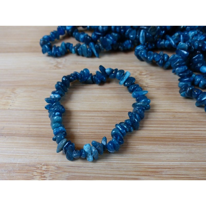 Bracelet baroque en Apatite Bleue Q. EXTRA
