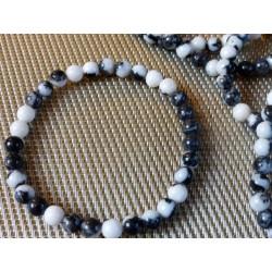 Bracelet Jaspe Zébré perles 6mm