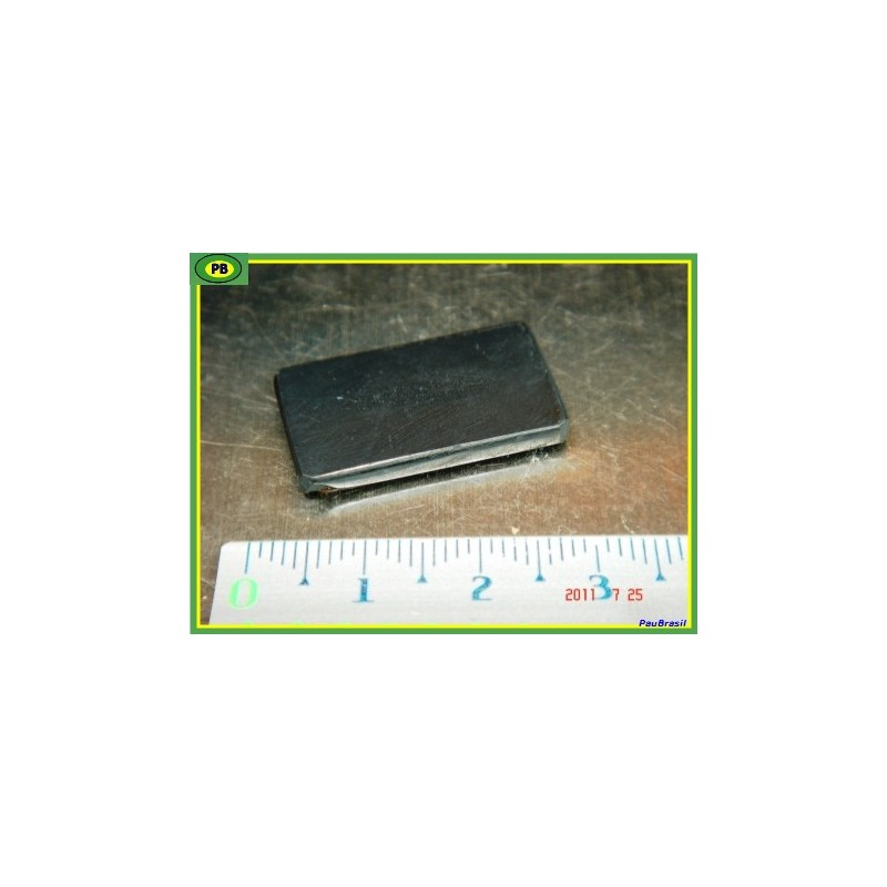 Shungite, plaquette téléphone, protection 2.5x1.5x0.3cm