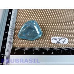 Quartz aqua aura en pierre roulée de 10gr40