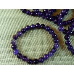 Bracelet AMETHYSTE Q Extra perles de 8 mm