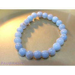 Bracelet ANGELITE en perles de 8mm