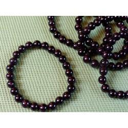 Bracelet Grenat rouge Q Extra en perles de 8mm