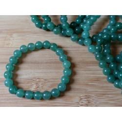 Bracelet AVENTURINE VERTE en perles de 8mm