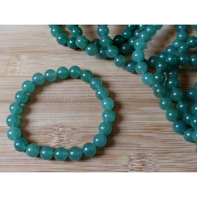 Bracelet Aventurine Verte perles 8mm