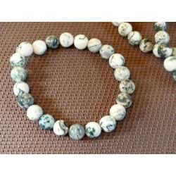 Bracelet AGATE ARBORISEE en perles de 8mm