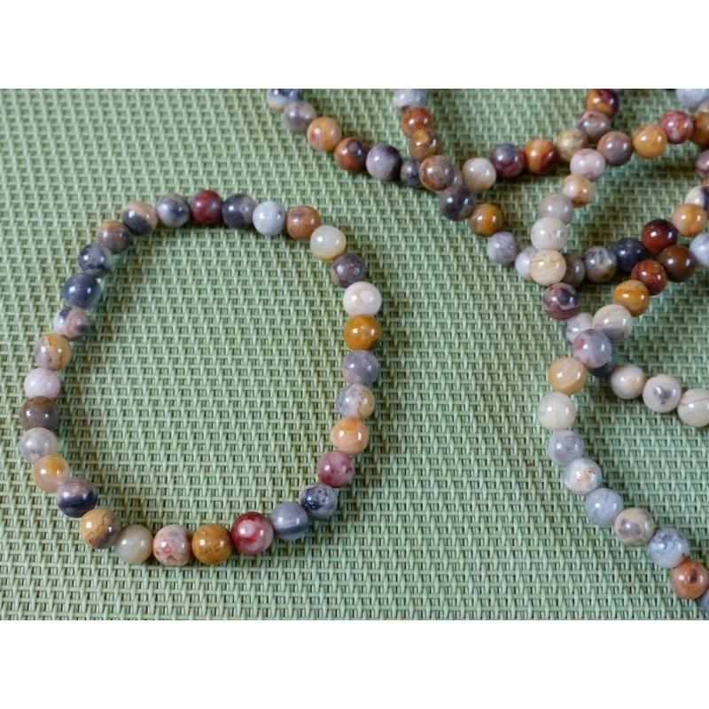 Bracelet Agate crazy lace en perles de 6mm