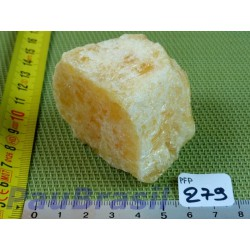 Calcite Orange en pierre une face polie de 180 g