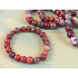 Bracelet Jaspe Rouge Breschia en pierres roulées
