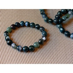 Bracelet AGATE MOUSSE en pierres roulées