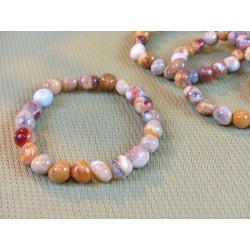 Bracelet Agate Crazy Lace en pierre roulée