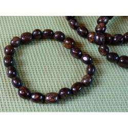 Bracelet BRONZITE en pierres roulées