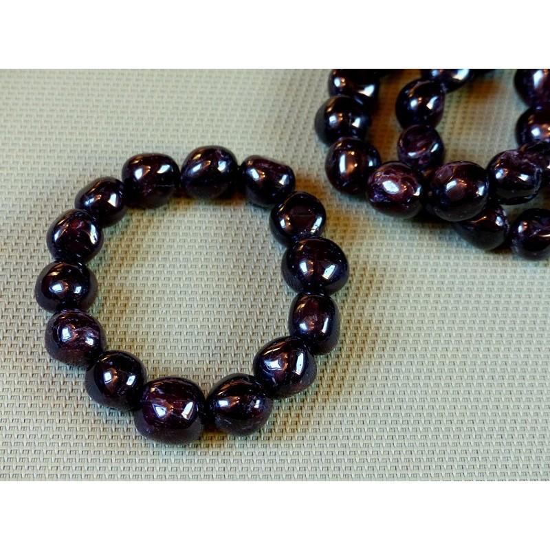 Bracelet Grenat rouge en grosses pierres roulées