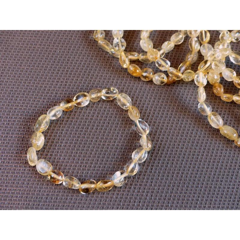 Bracelet Citrine en pierres roulées