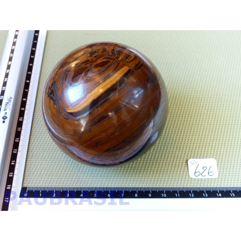 Sphère en Oeil de Fer Q Extra 1134g 87mm diamètre