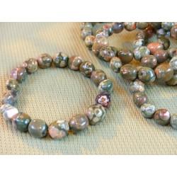 Bracelet Rhyolite en pierre roulée .