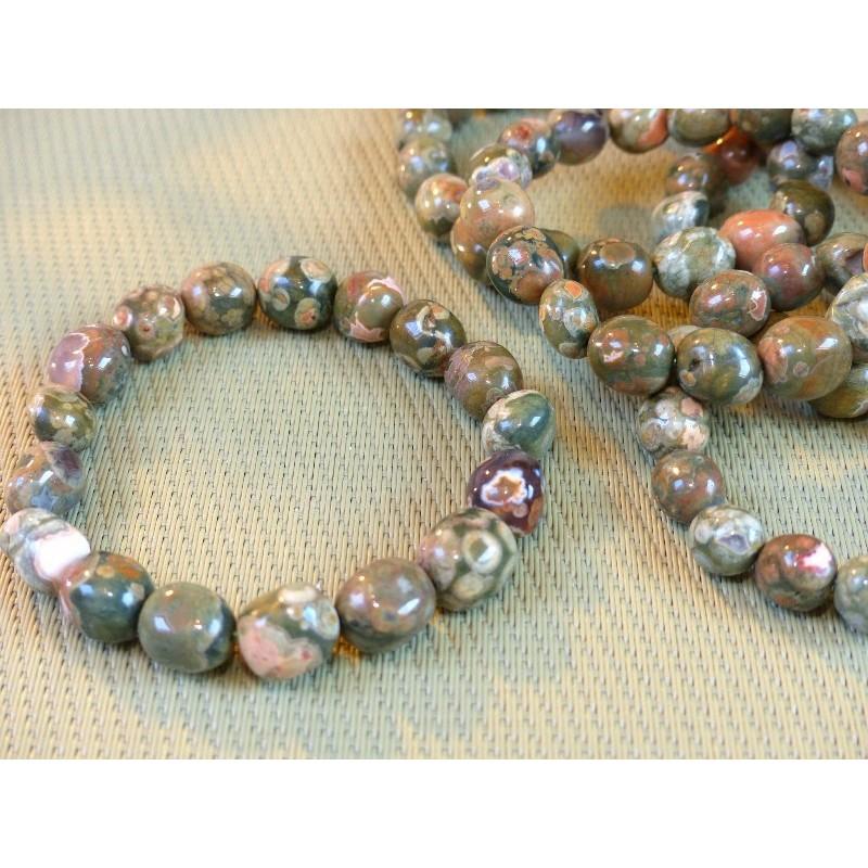 Bracelet Rhyolite en pierre roulée