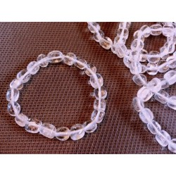 Bracelet CRISTAL DE ROCHE Q Extra en pierres roulées