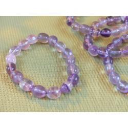 Bracelet  Fluorite ou fluorine Violette en pierres roulées