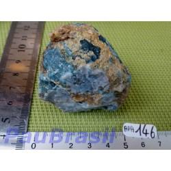 Apatite Bleue en pierre brute du Brésil 138g .