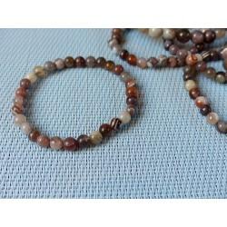 Bracelet Agate Botswana en perles de 6mm .