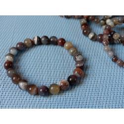 Bracelet Agate Botswana en perles de 8mm .