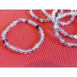 Bracelet Fluorite ou fluorine Multicolore en perles de 6mm