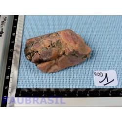 Rhodocrosite Argentine Pierre Brute Sciée 112g.