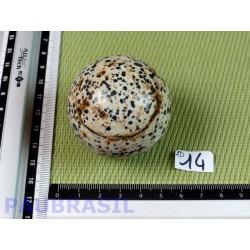 Sphère Jaspe Dalmatien Lamparci 170g diamètre 50mm
