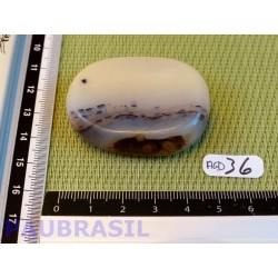 Agate Naturelle Dendrite Q Extra en tranche plate 43g