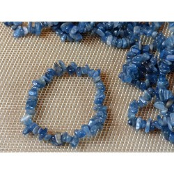 Bracelet baroque en Disthene Cyanite bleue Q Extra