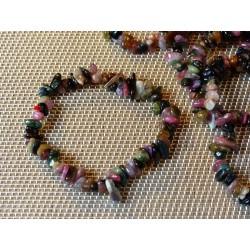 Bracelet baroque en tourmaline multicolore Q Extra .