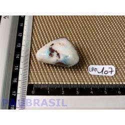 Larimar - Pectolite bleue pierre roulée de 17gr20 Q moyenne .
