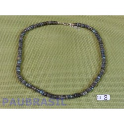 Collier Labradorite en perles aplaties - disques de 6mm environ 42cm environ .